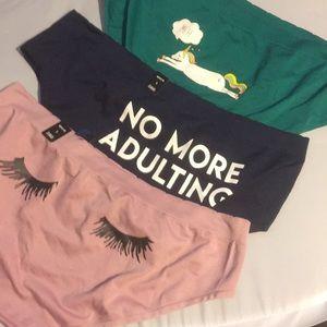 3 Pairs NWT Torrid size 1 hipster Panties